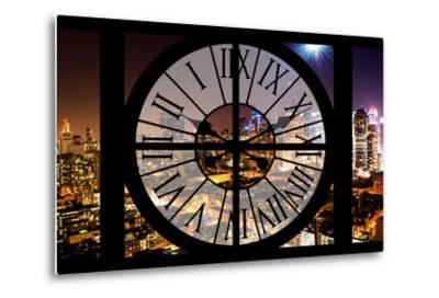 Giant Clock Window - Night View of Manhattan - Hell's Kitchen-Philippe Hugonnard-Metal Print