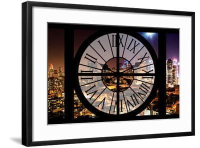 Giant Clock Window - Night View of Manhattan - Hell's Kitchen-Philippe Hugonnard-Framed Photographic Print