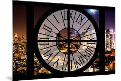 Giant Clock Window - Night View of Manhattan - Hell's Kitchen-Philippe Hugonnard-Mounted Photographic Print