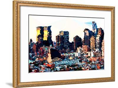 Low Poly New York Art - Hell's Kitchen Buildings-Philippe Hugonnard-Framed Art Print