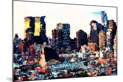 Low Poly New York Art - Hell's Kitchen Buildings-Philippe Hugonnard-Mounted Art Print