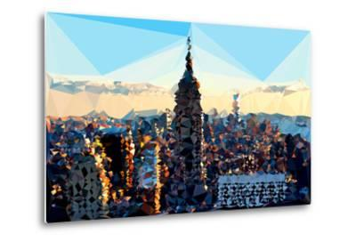 Low Poly New York Art - Skyline Sunset-Philippe Hugonnard-Metal Print