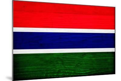 Gambia Flag Design with Wood Patterning - Flags of the World Series-Philippe Hugonnard-Mounted Art Print