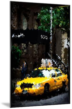 Low Poly New York Art - Traffic Light-Philippe Hugonnard-Mounted Art Print