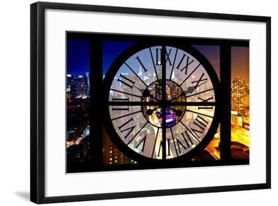 Giant Clock Window - City View at Night - New York-Philippe Hugonnard-Framed Photographic Print