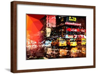 Low Poly New York Art - New York Taxis-Philippe Hugonnard-Framed Art Print