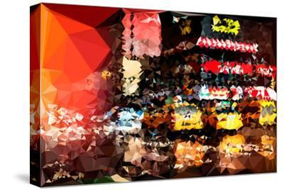 Low Poly New York Art - New York Taxis-Philippe Hugonnard-Stretched Canvas Print
