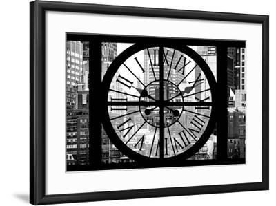 Giant Clock Window - View on Turtle Bay Buildings - New York City-Philippe Hugonnard-Framed Photographic Print