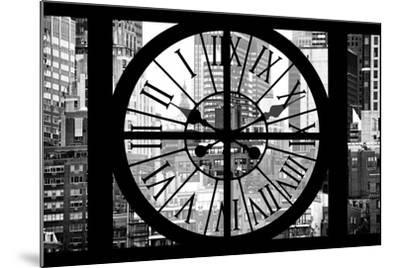 Giant Clock Window - View on Turtle Bay Buildings - New York City-Philippe Hugonnard-Mounted Photographic Print