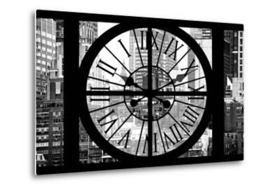 Giant Clock Window - View on Turtle Bay Buildings - New York City-Philippe Hugonnard-Metal Print