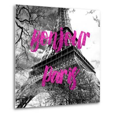Paris Fashion Series - Bonjour Paris - Eiffel Tower II-Philippe Hugonnard-Metal Print