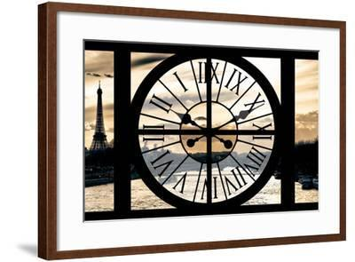 Giant Clock Window - View on Paris at Sunset-Philippe Hugonnard-Framed Photographic Print