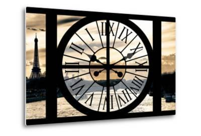 Giant Clock Window - View on Paris at Sunset-Philippe Hugonnard-Metal Print