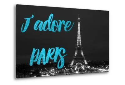 Paris Fashion Series - J'adore Paris - Eiffel Tower at Night VIII-Philippe Hugonnard-Metal Print