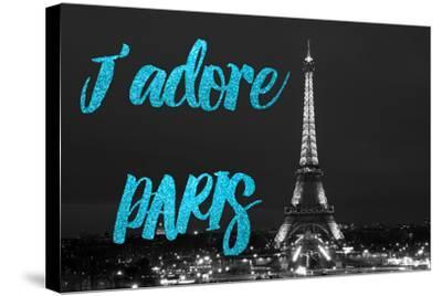 Paris Fashion Series - J'adore Paris - Eiffel Tower at Night VIII-Philippe Hugonnard-Stretched Canvas Print