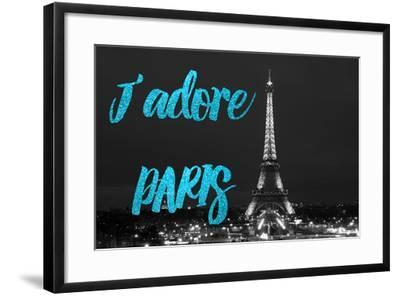 Paris Fashion Series - J'adore Paris - Eiffel Tower at Night VIII-Philippe Hugonnard-Framed Photographic Print