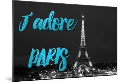 Paris Fashion Series - J'adore Paris - Eiffel Tower at Night VIII-Philippe Hugonnard-Mounted Photographic Print
