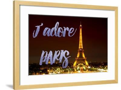 Paris Fashion Series - J'adore Paris - Eiffel Tower at Night IX-Philippe Hugonnard-Framed Photographic Print