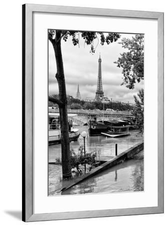 Paris sur Seine Collection - Barges on the Seine-Philippe Hugonnard-Framed Photographic Print