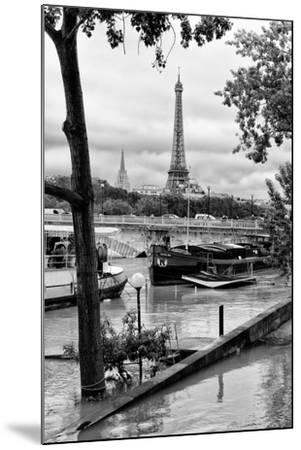Paris sur Seine Collection - Barges on the Seine-Philippe Hugonnard-Mounted Photographic Print
