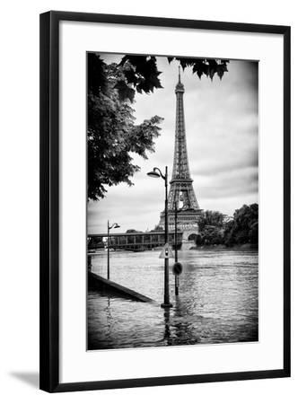 Paris sur Seine Collection - Traffic Light Panel-Philippe Hugonnard-Framed Photographic Print