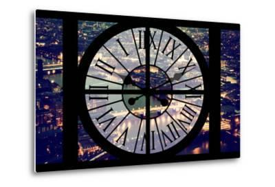 Giant Clock Window - View on the City of London by Night IX-Philippe Hugonnard-Metal Print
