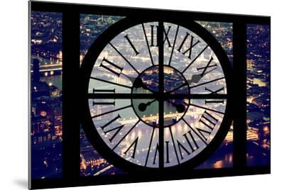 Giant Clock Window - View on the City of London by Night IX-Philippe Hugonnard-Mounted Photographic Print