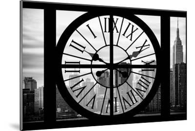 Giant Clock Window - View on the New York City - The Empire State-Philippe Hugonnard-Mounted Photographic Print