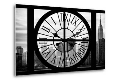 Giant Clock Window - View on the New York City - The Empire State-Philippe Hugonnard-Metal Print