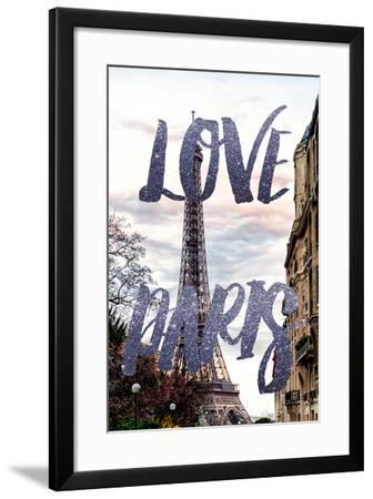 Paris Fashion Series - Love Paris - Eiffel Tower III-Philippe Hugonnard-Framed Photographic Print