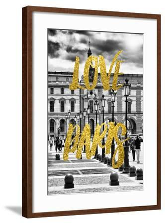 Paris Fashion Series - Love Paris - French Architecture-Philippe Hugonnard-Framed Photographic Print