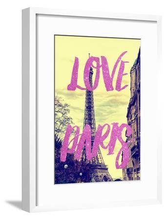Paris Fashion Series - Love Paris - Eiffel Tower II-Philippe Hugonnard-Framed Photographic Print