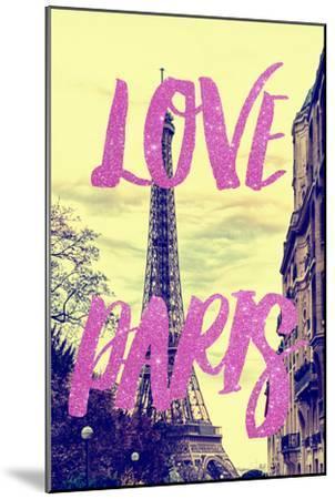Paris Fashion Series - Love Paris - Eiffel Tower II-Philippe Hugonnard-Mounted Photographic Print