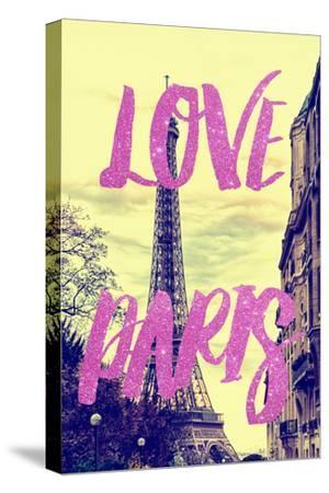 Paris Fashion Series - Love Paris - Eiffel Tower II-Philippe Hugonnard-Stretched Canvas Print