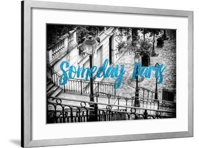 Paris Fashion Series - Someday Paris - Staircase of Montmartre IV-Philippe Hugonnard-Framed Photographic Print