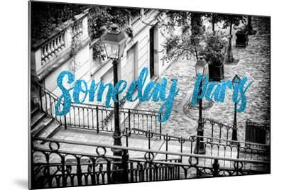 Paris Fashion Series - Someday Paris - Staircase of Montmartre IV-Philippe Hugonnard-Mounted Photographic Print
