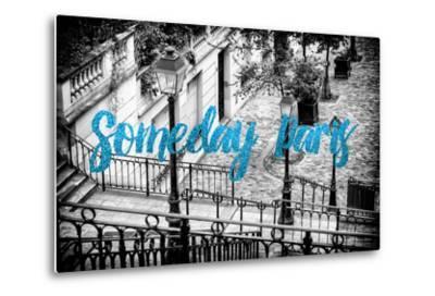 Paris Fashion Series - Someday Paris - Staircase of Montmartre IV-Philippe Hugonnard-Metal Print