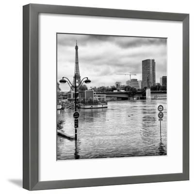 Paris sur Seine Collection - Trocadero Concorde IV-Philippe Hugonnard-Framed Photographic Print