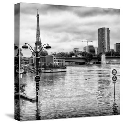 Paris sur Seine Collection - Trocadero Concorde IV-Philippe Hugonnard-Stretched Canvas Print