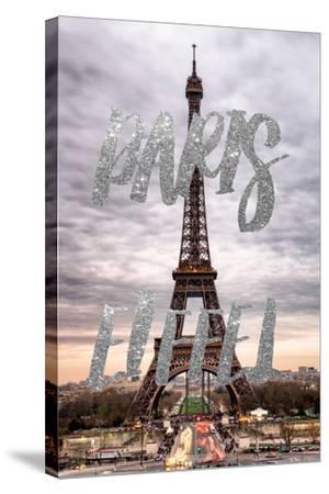 Paris Fashion Series - Paris Eiffel II-Philippe Hugonnard-Stretched Canvas Print