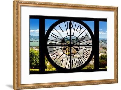 Giant Clock Window - View of the San Francisco City-Philippe Hugonnard-Framed Photographic Print