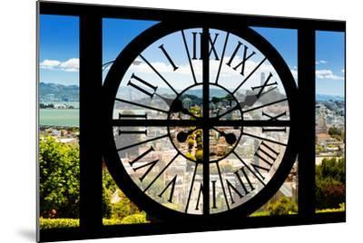 Giant Clock Window - View of the San Francisco City-Philippe Hugonnard-Mounted Photographic Print