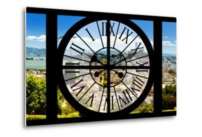 Giant Clock Window - View of the San Francisco City-Philippe Hugonnard-Metal Print