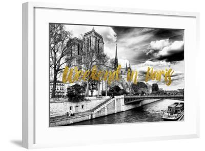 Paris Fashion Series - Weekend in Paris - Notre Dame Cathedral-Philippe Hugonnard-Framed Photographic Print