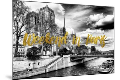 Paris Fashion Series - Weekend in Paris - Notre Dame Cathedral-Philippe Hugonnard-Mounted Photographic Print
