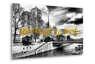 Paris Fashion Series - Weekend in Paris - Notre Dame Cathedral-Philippe Hugonnard-Metal Print