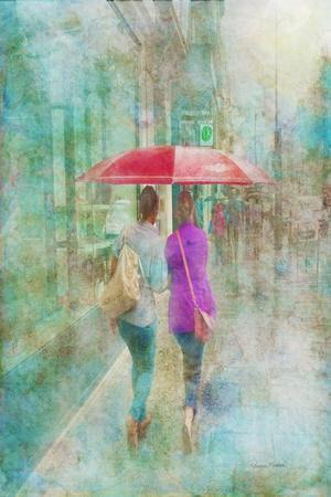 Rainy in Paris 1-Romona Murdock-Framed Art Print