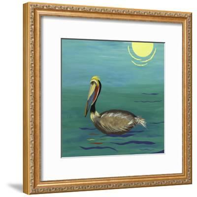 Pelican-Jennifer Peck-Framed Art Print
