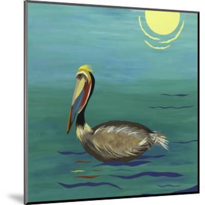 Pelican-Jennifer Peck-Mounted Art Print