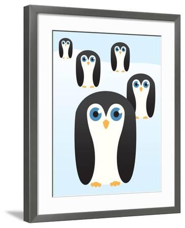 Penguin Cute Cartoon-pelonmaker-Framed Art Print